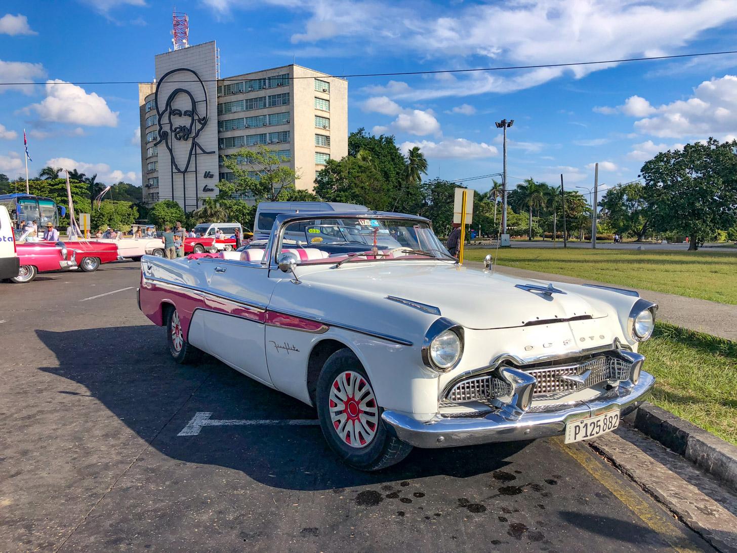 Ritje met een klassieke Amerikaanse auto