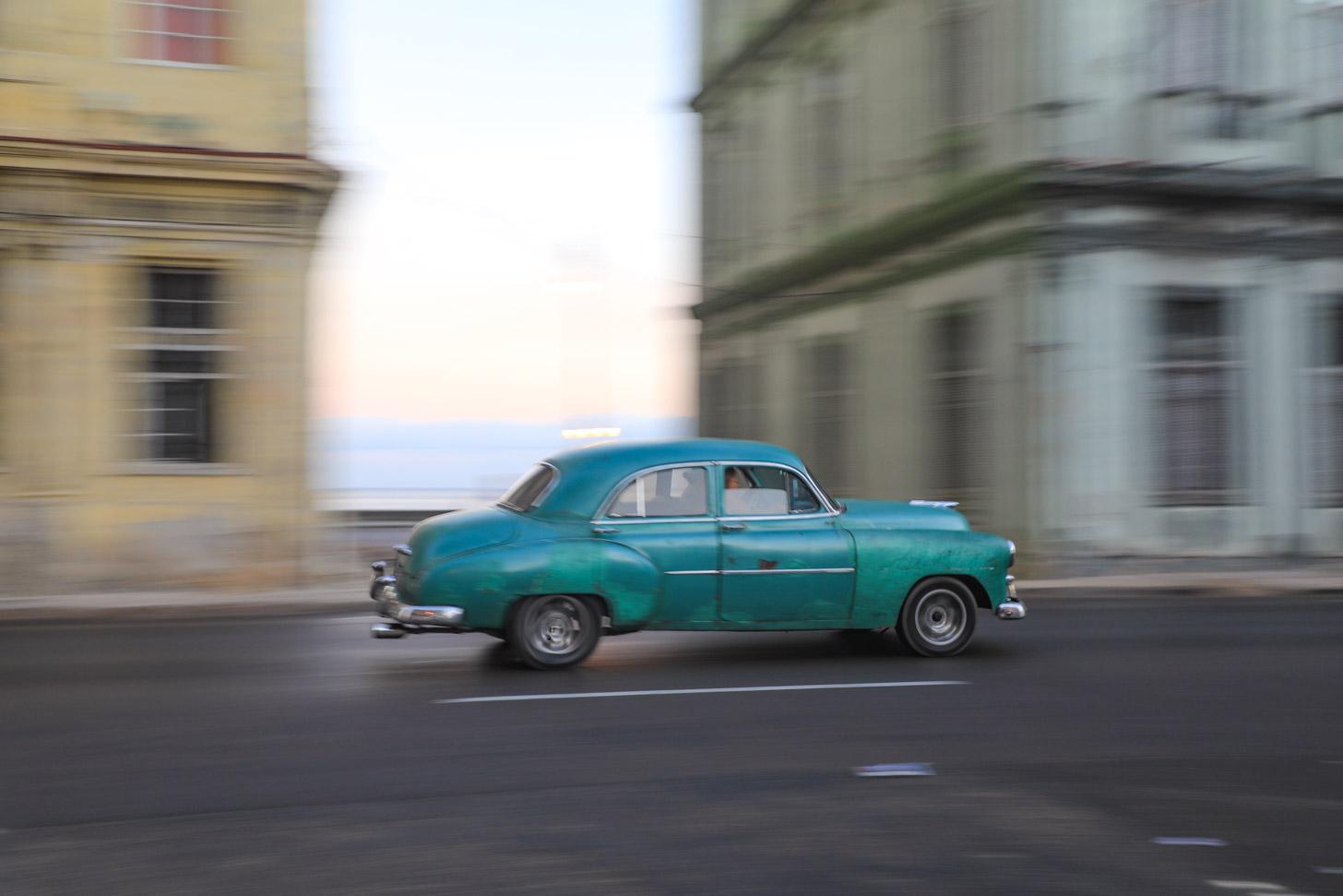 Een huurauto in Havana