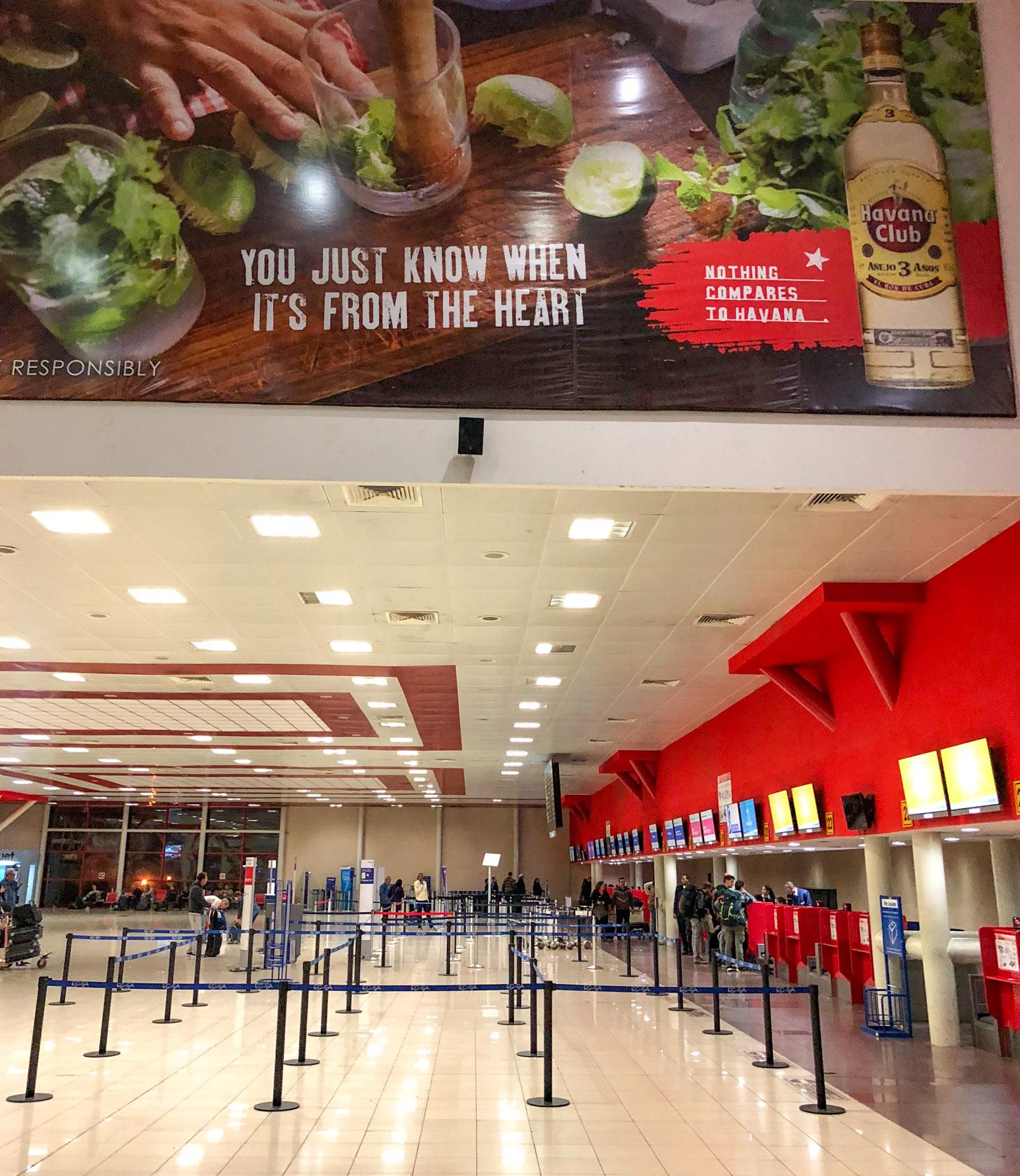 De luchthaven van Havana